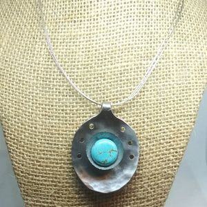 Handmade Turquoise Spoon Necklace